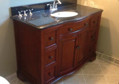 bathroom sink remodel