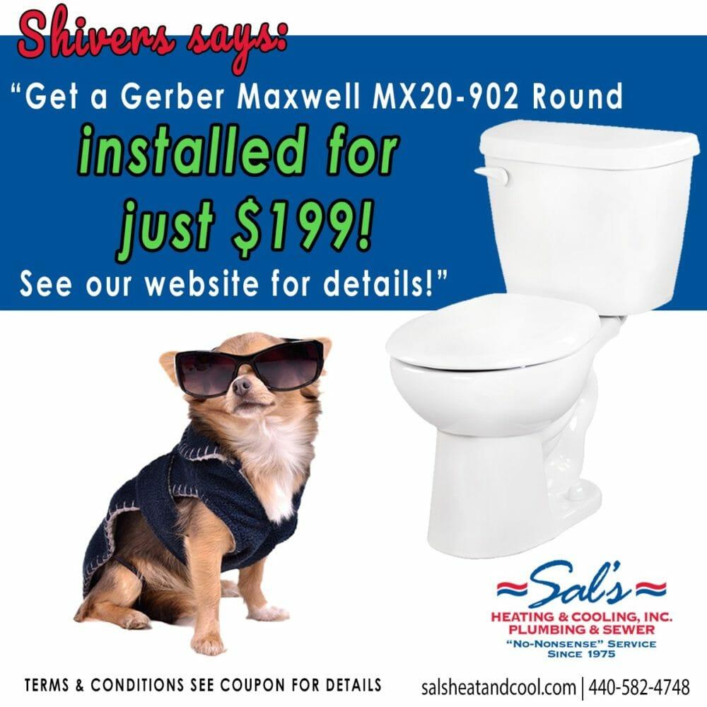 new toilet installation